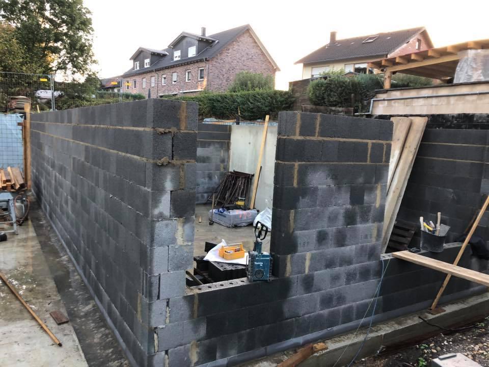 Bauvorhaben Eschweiler Volkenrath Mauerarbeiten begonnen