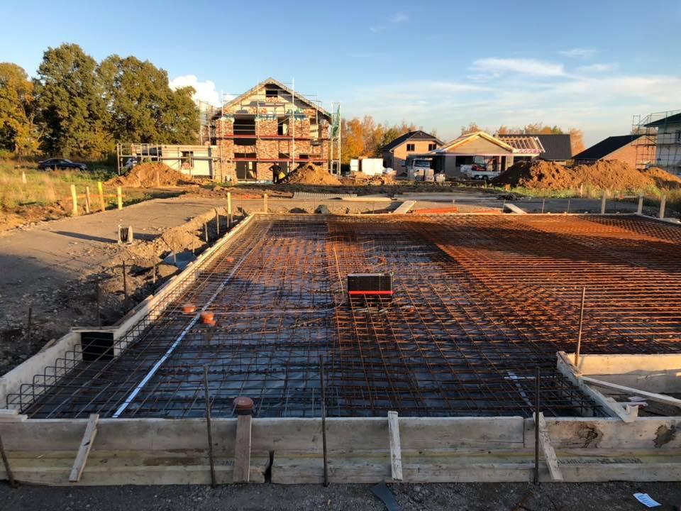 Bauvorhaben Titz Schalung Bodenplatte fertig